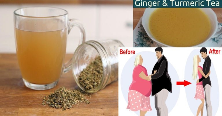 LOSING WEIGHT QUICKLY WITH THIS MAGIC GINGER AND TURMERIC TEA #weightlossbeforeandafter