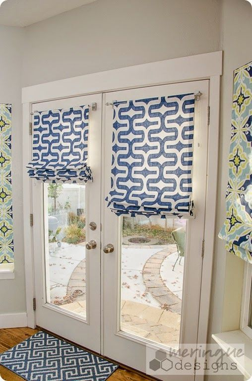 roman shades for doors Roman Shades for French Doors (deep thoughts by cynthia) | For the  roman shades for doors