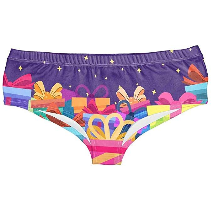 af8dfdccd454 Amazon.com: Midress Christmas Ornaments Ladies Hipsters Panties Christmas  Themed Women Panties Christmas Print Underwear for Christmas Party (F):  Home & ...