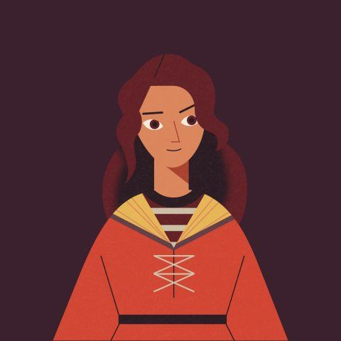 Illustration Of Alicia Spinnet From The Dumbledore S Army Infographic Wizarding World Harry Potter Characters Pottermore