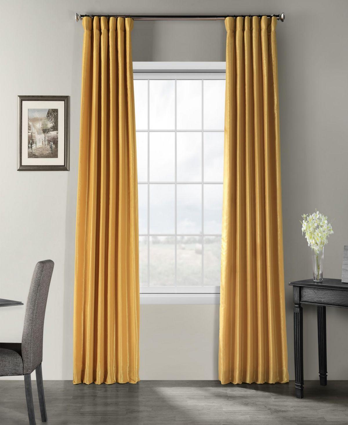 Exclusive Fabrics Furnishings Vintage Textured 50 X 84 Curtain