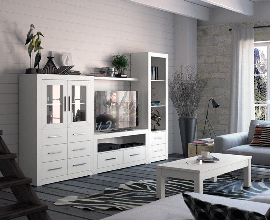 Salon Clasico Blanco Clarence Salones Rusticos Muebles Para Tv Muebles De Comedor