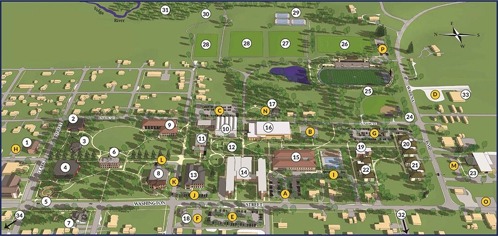 Iowa State Campus Map Iowa State Campus Map image uiu campus maps and directions upper