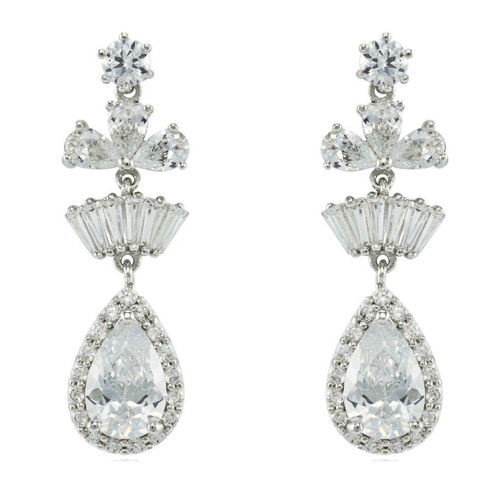 Leeline cz dangle chandelier earrings cubic zirconia chandelier leeline cz dangle chandelier earrings cubic zirconia arubaitofo Choice Image