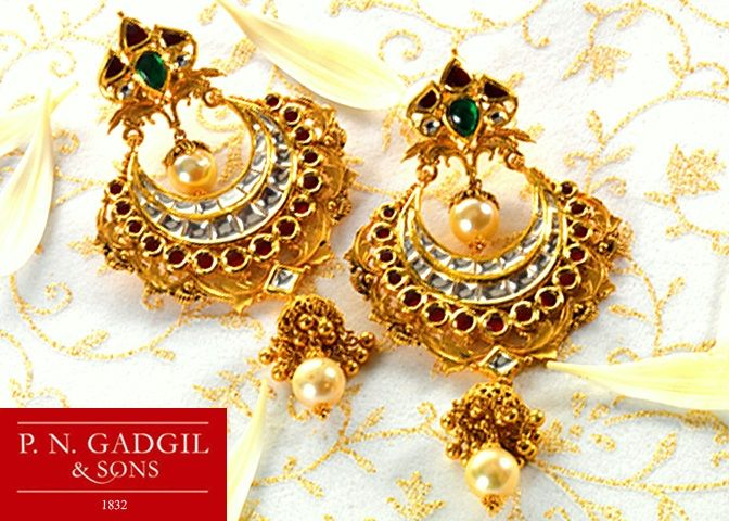Gold ear ring designs Very beautiful and unique set of ear rings