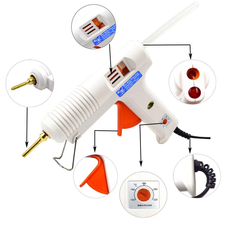 150W 100W Hot Melt Glue Gun with Temperature Control