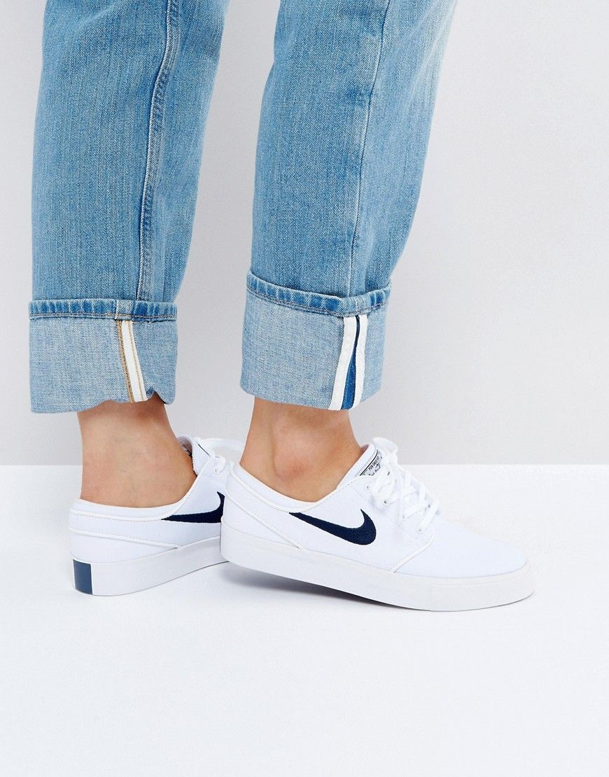 medias Discutir Mil millones  Buy it now. Nike SB Zoom Janoski Trainers In White - White. Trainers by Nike,  Canvas upper, Lace-up fastening, Branded tongue, Padded c… | Nike sb, Nike,  Zapatillas