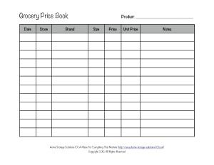 How To Create Your Own Grocery Price List Or Book Template I Printed Off 5 So Far Record With