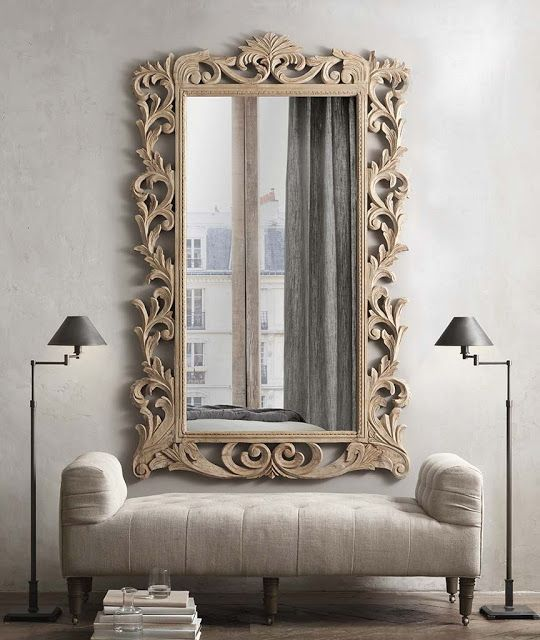Grand Foyer Mirror : The bliss list restoration hardware small spaces and