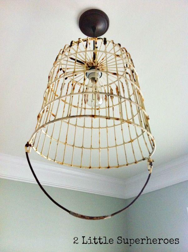 DIY Egg Basket Light | Craft | Pinterest | Egg basket, Egg and Lights