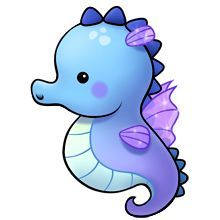 Image result for cute seahorse drawing