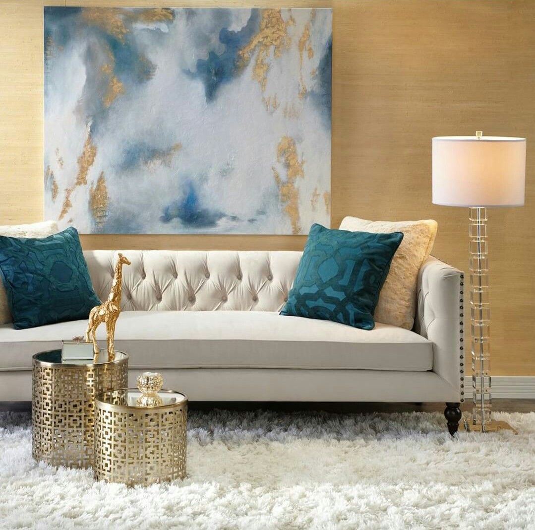 Turquoise Is Such A Regal Shade Living Room Furniture Inspiration Gold Living Room Wall Decor Living Room #turquoise #and #gold #living #room