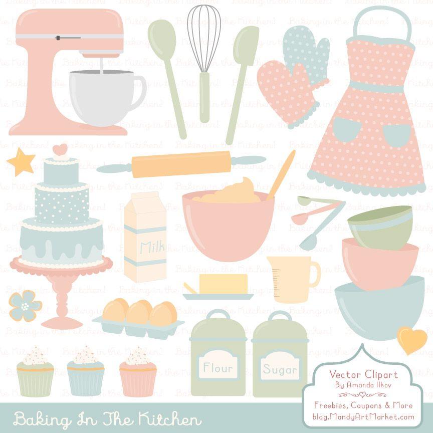 Grandmas Garden Baking In The Kitchen Graphic By Amanda Ilkov Creative Fabrica Graphic Illustration Clip Art Baking