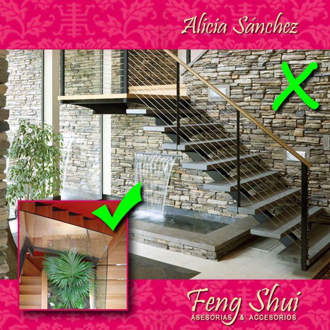 Ning n tipo de escalera deber a tener por debajo el for Plantas para interiores segun el feng shui