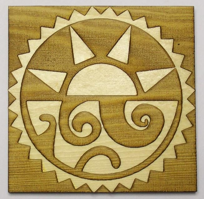 Aztecsuns Aztec Sun And Moon On Wood Tatoo Pinterest Sun