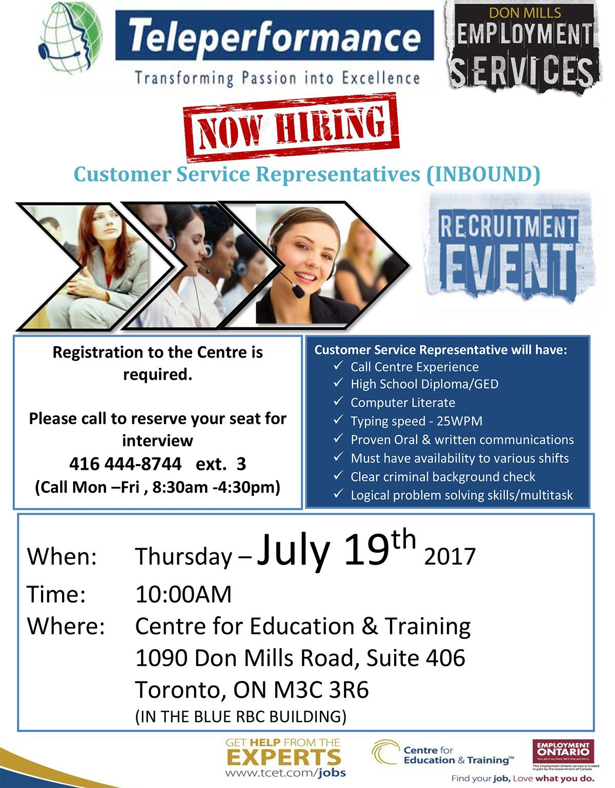 Need a Job? Don't miss the teleperformance hiring event, Thursday