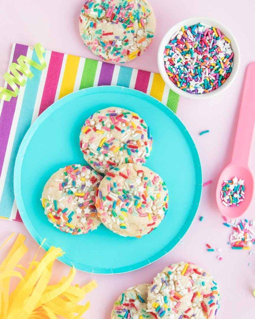 Easy Birthday Funfetti Cake Mix Cookies Recipe Cake mix