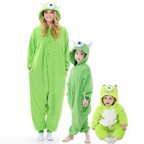 d9736c45bfb Monster University Mike Wazowski Family Pajamas Kigurumi Onesies ...