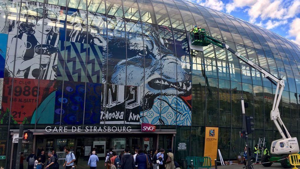 Une Fresque Geante Sur La Gare De Strasbourg Avec Images