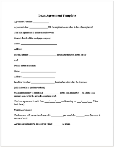 Tumblr Contract Template Personal Loans Car Payment