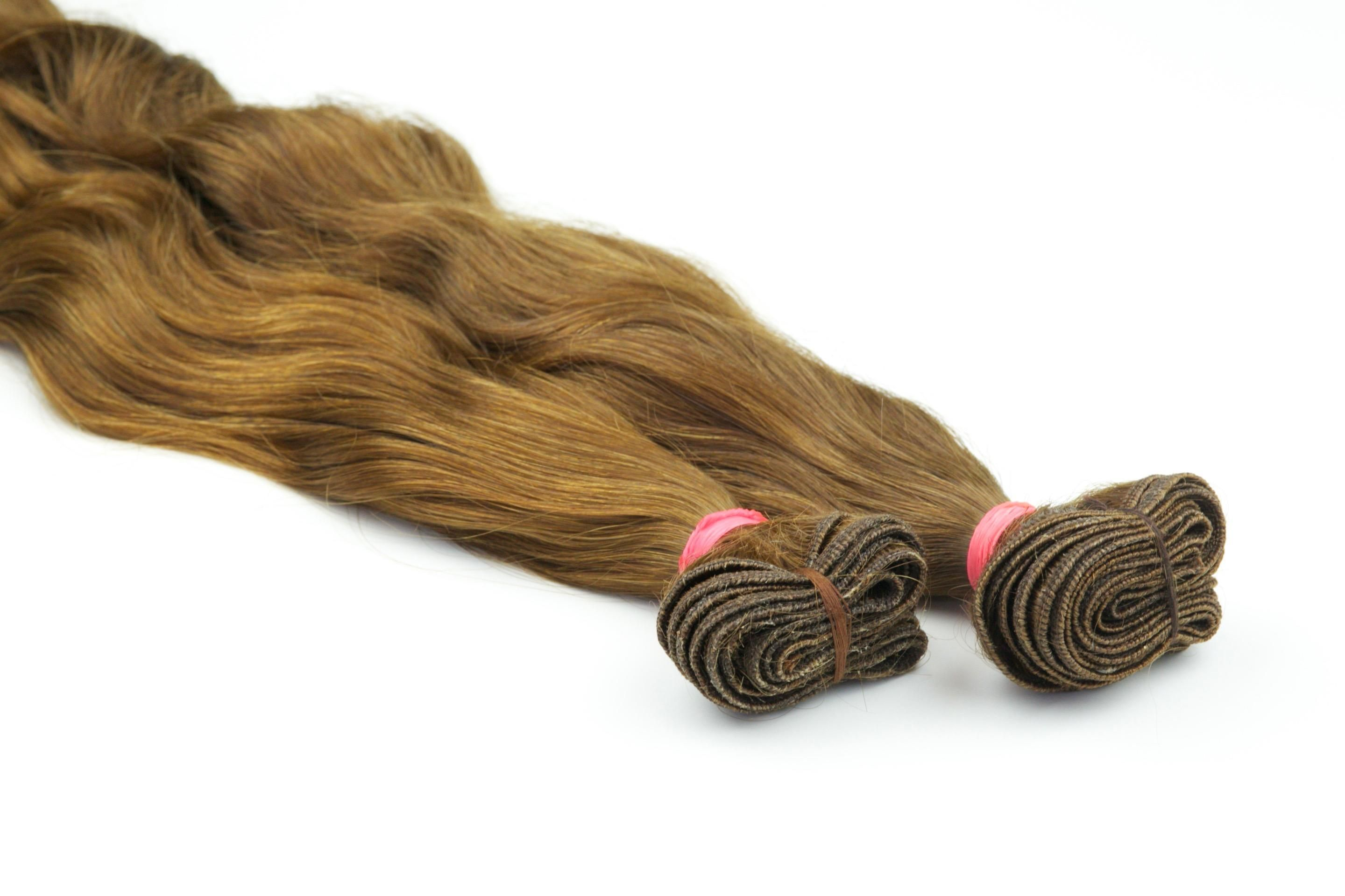 Premium10A gradeNatural wavy Virgin hair!Color - #30 (Light Auburn)Our virgin Indian hair is as close to raw hairas you will find and is off the charts! Completely natural in its state and is single donor hair straight from the source. This is the absolute best virgin hair you will find on the market with no chemical treatments or processing.This is a one of a kind premium grade NATURAL hair that will last over 2 years when properly maintained. Simply wet the hair to return it to its…
