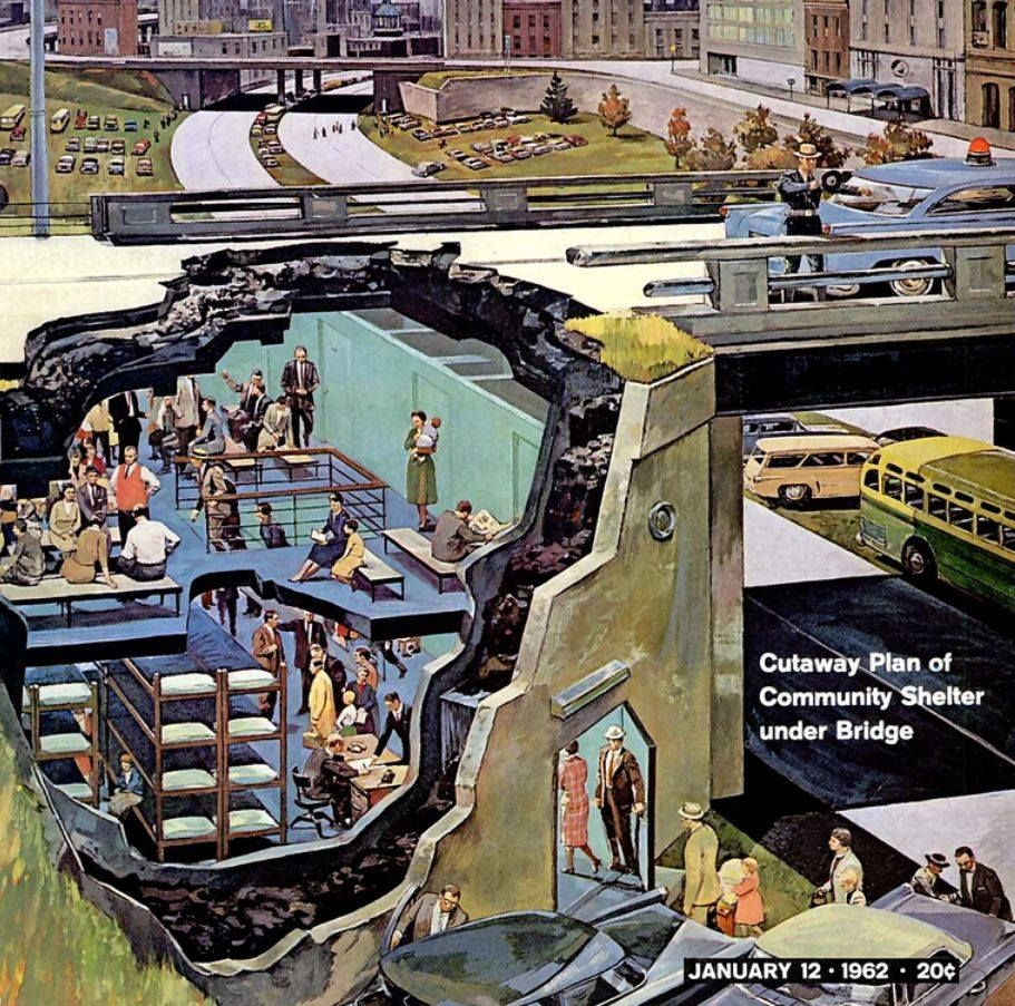 Fallout Shelter Designing for Civil Defense in the Cold War by