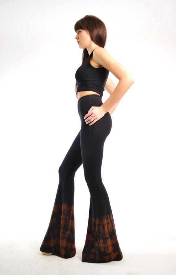 Women Athletic Yoga Suede Wide Leg Silhouette Pants Trousers Stretch Black Sash