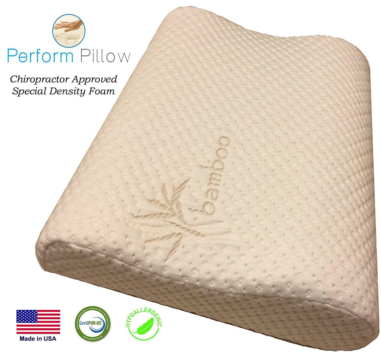Medium Profile Memory Foam Neck Pillow Review Neck Pillow Cervical Pillows Memory Foam