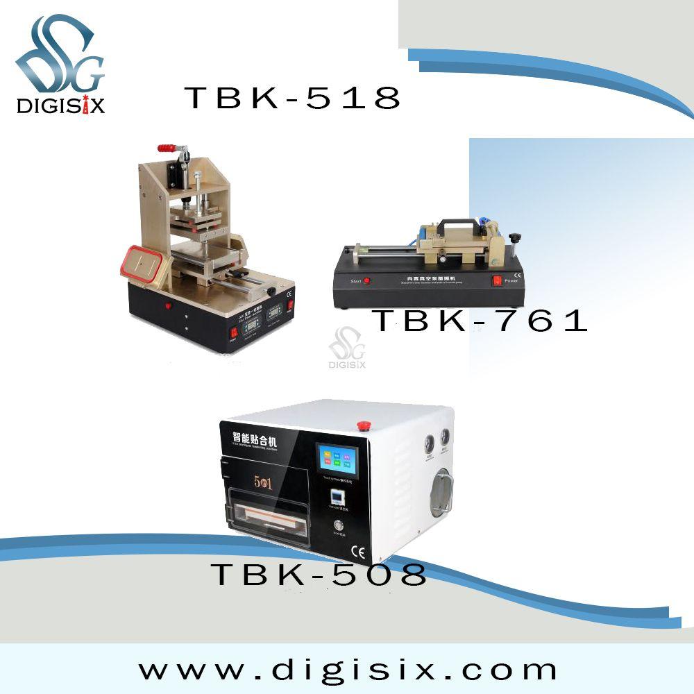 Tbk Lcd Repair Equipment 5in1 Frame Laminating Machine Tbk 408 12 Laminating Debubblers One Machine Manul Oca Film Machine Laminators Repair Lcd