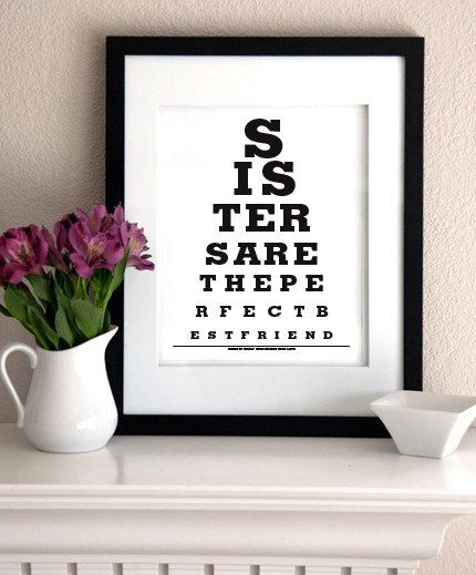 GIFT FOR SISTER - Sisters Are The Perfect Best Friend - Eye Exam ...