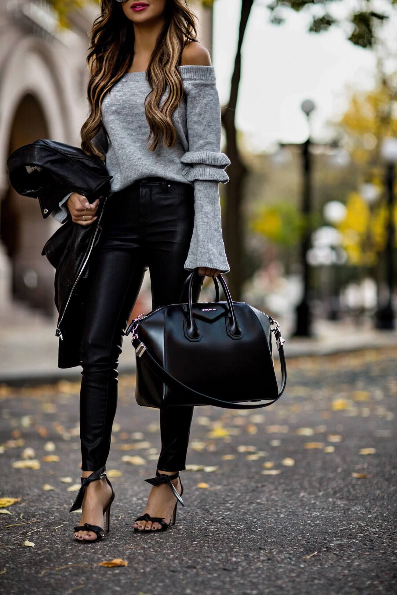 7e5eaa0b5465 fashion blogger mia mia mine wearing a givenchy antigona bag