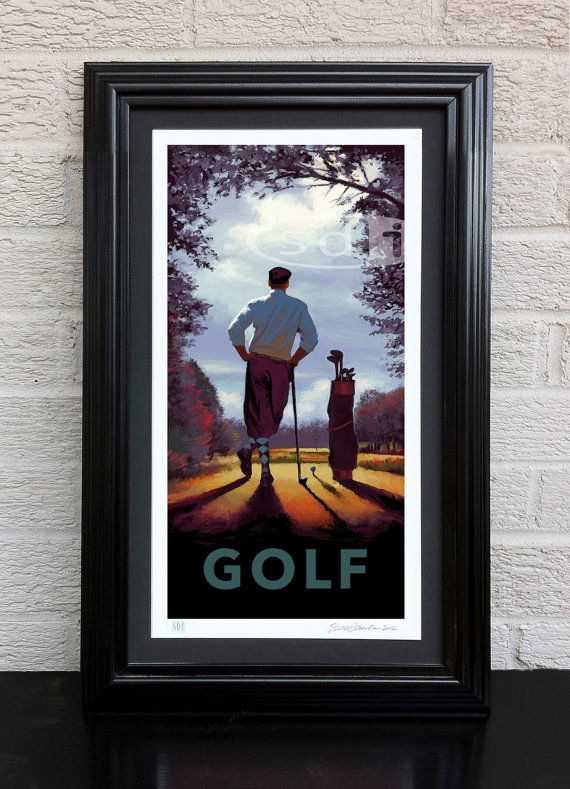 On The Tee gift sports art poster print painting   Pinterest   Juego