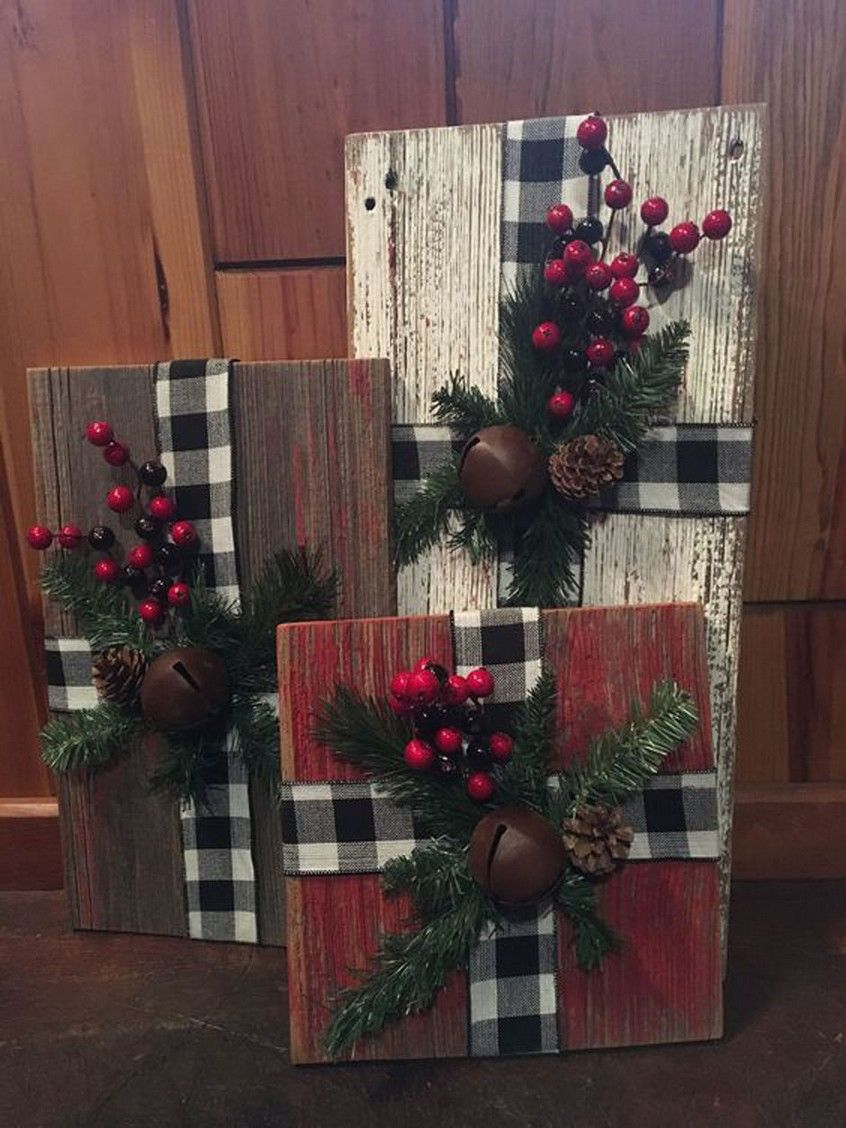 29 Rustic farmhouse wood Christmas presents 18