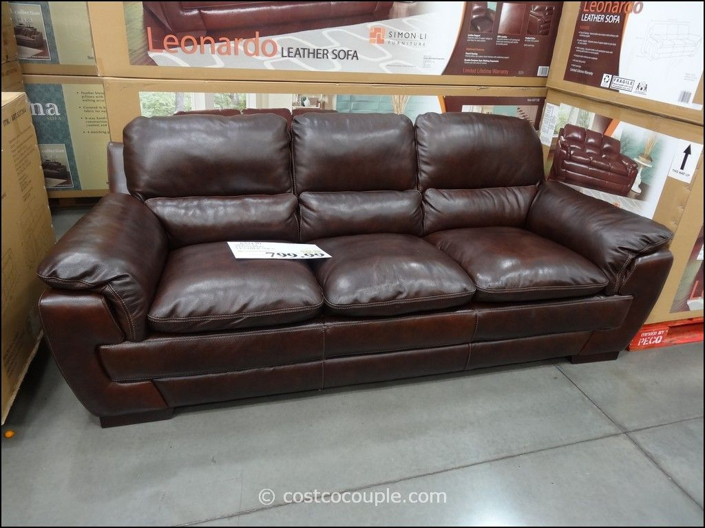 Merveilleux Brown Leather Couch Costco