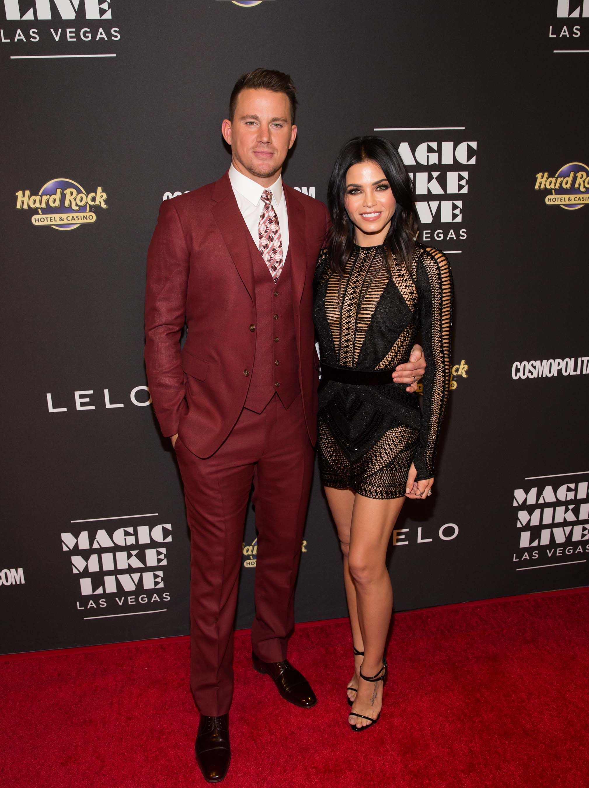 Channing Tatum and Jenna Dewan-Tatum at Opening Night of MAGIC MIKE LIVE  LAS VEGAS