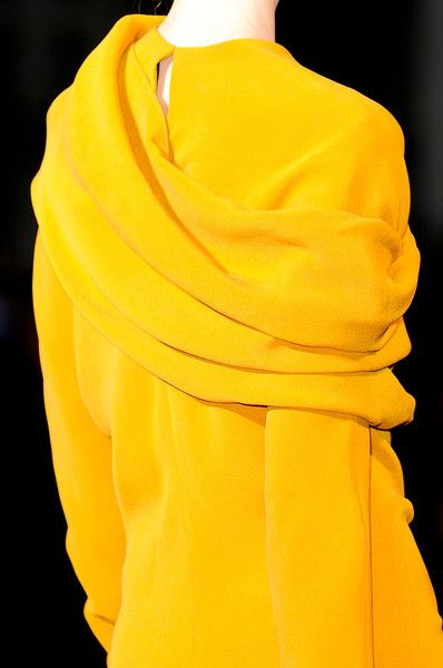 Haider Ackermann Fall 2012 - Details- I love yellow!!!