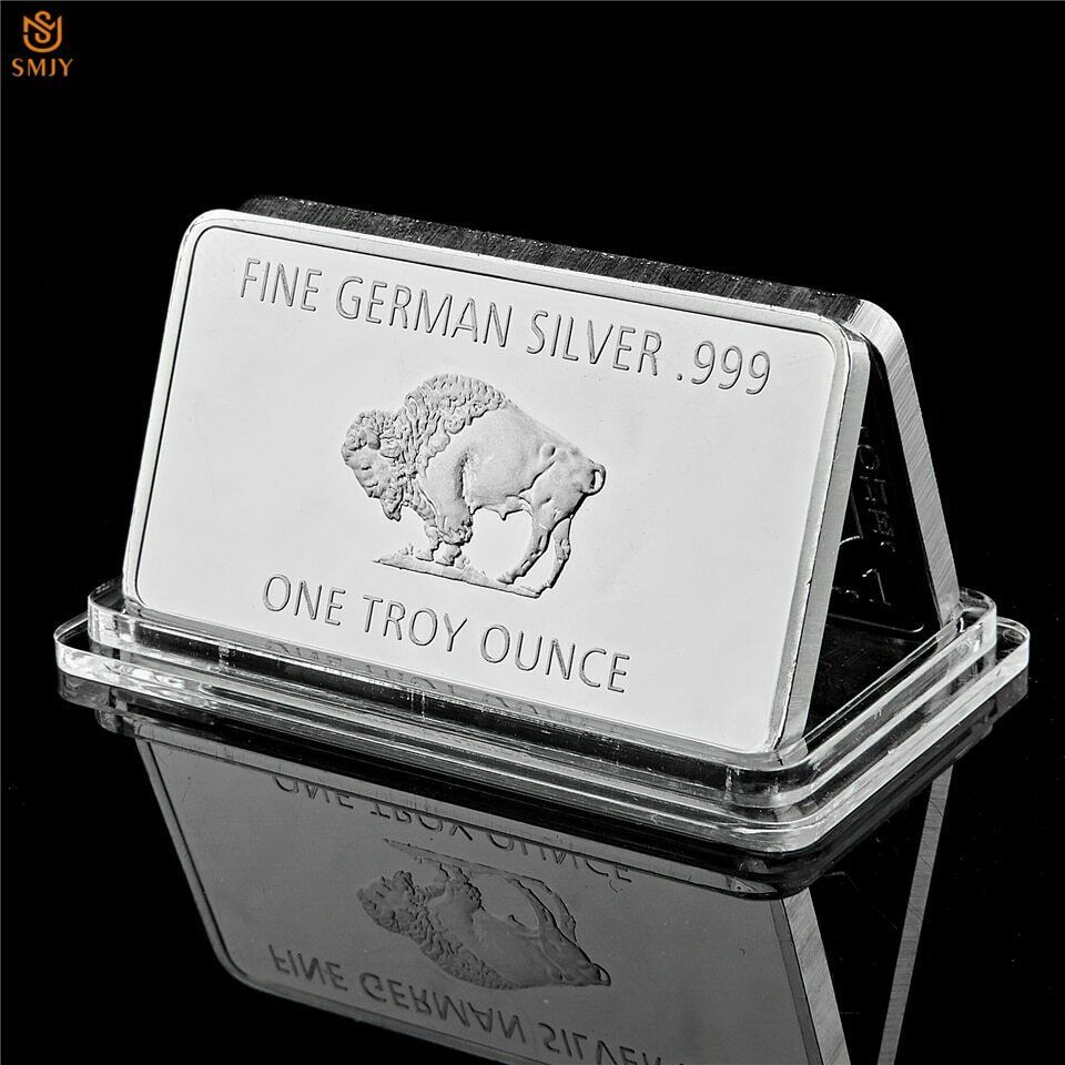Details About Bullion Germany Fine Silver 999 Mint 1 Troy Ounce Buffalo European Metal Bar In 2020 Bullion Fine Silver Silver