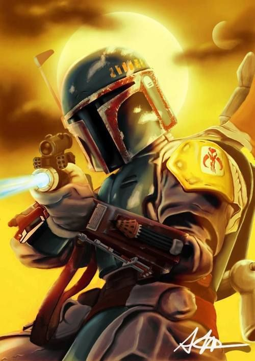 Pew Pew Pew With Images Boba Fett Artwork Boba Fett Art