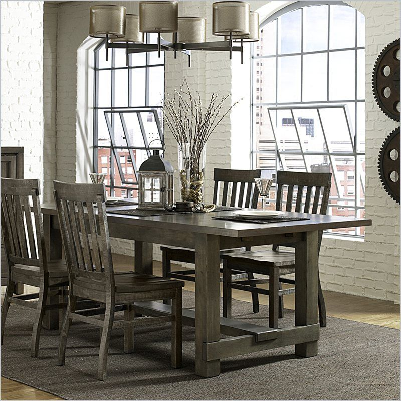 Table Would Look Good With Black Kubu Chairs Magnussen Karlin Wood  Rectangular Dining Table In Grey Acacia     Lowest Price Online On All  Magnussen Karlin ...