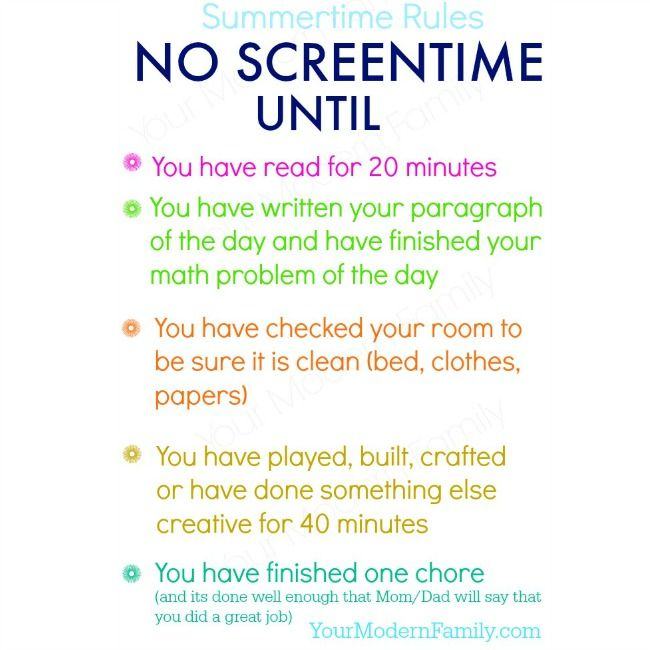 Coping With Screen Time And Anger Issues Raising Tweens Tips >> No Screen Time Until Free Printable Bulletin Board Ideas