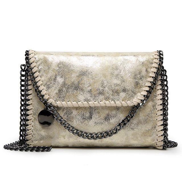 86ff96f858 Fashion Womens design Chain Detail Cross Body Bag Ladies Shoulder bag  clutch bag bolsa franja luxury evening bag LB148