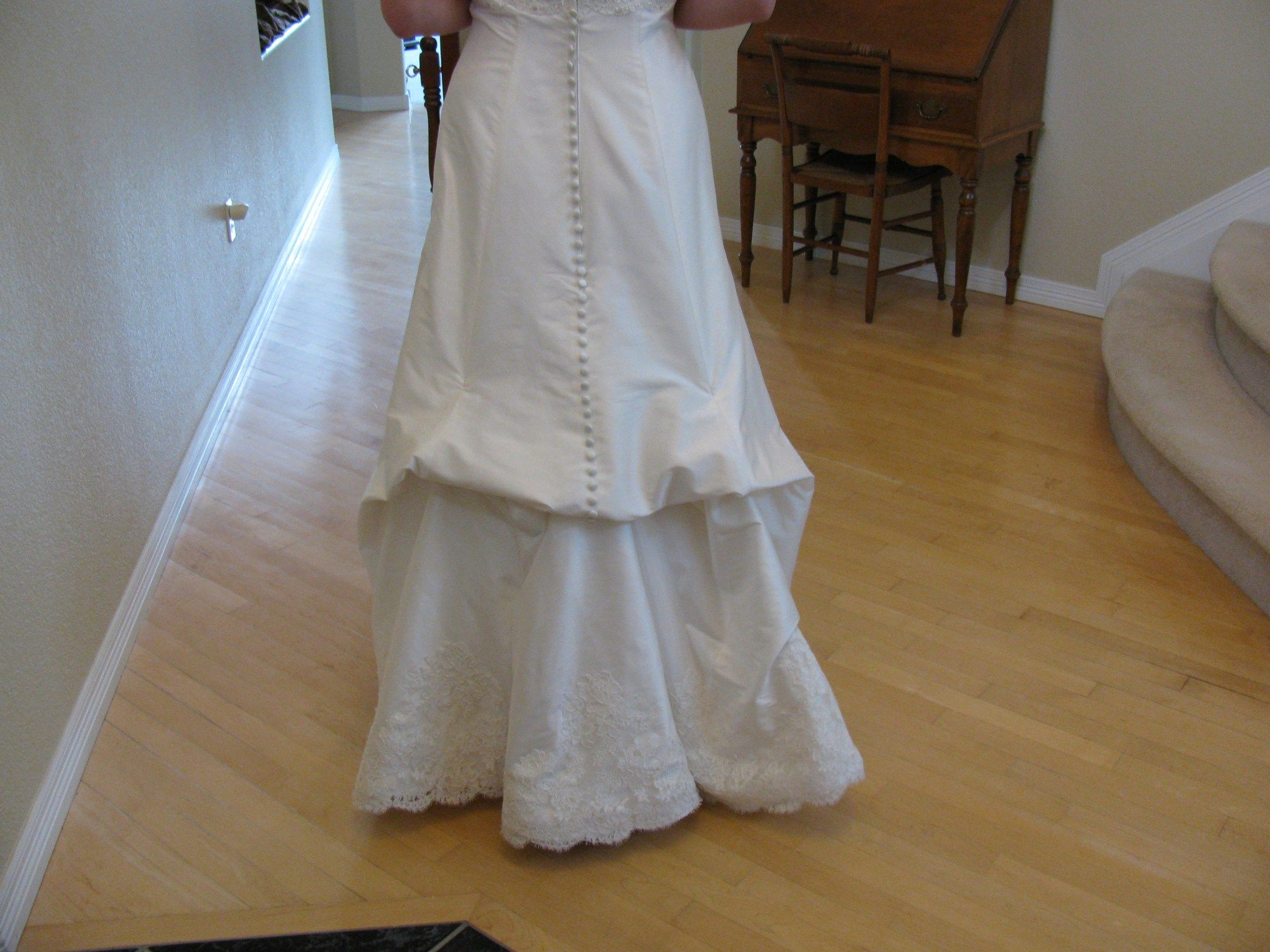 Putting Bustles On Your Wedding Gown Wedding gown bustle