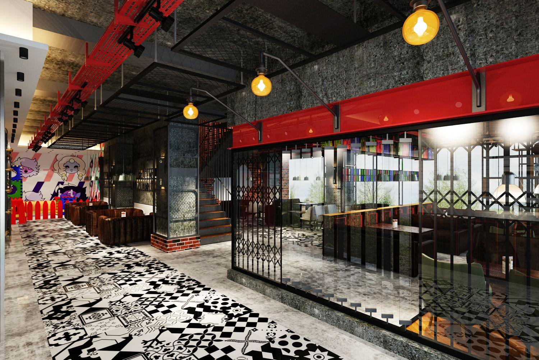industrial style restaurant