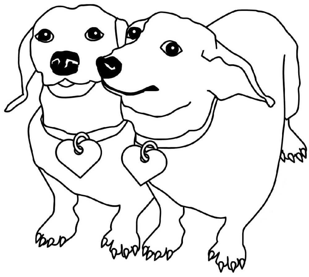 Dachshund Coloring Pages Printable | Educative Printable ...