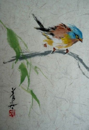 Aquarelle Chinoise Birds Watercolor Art Watercolor Paintings