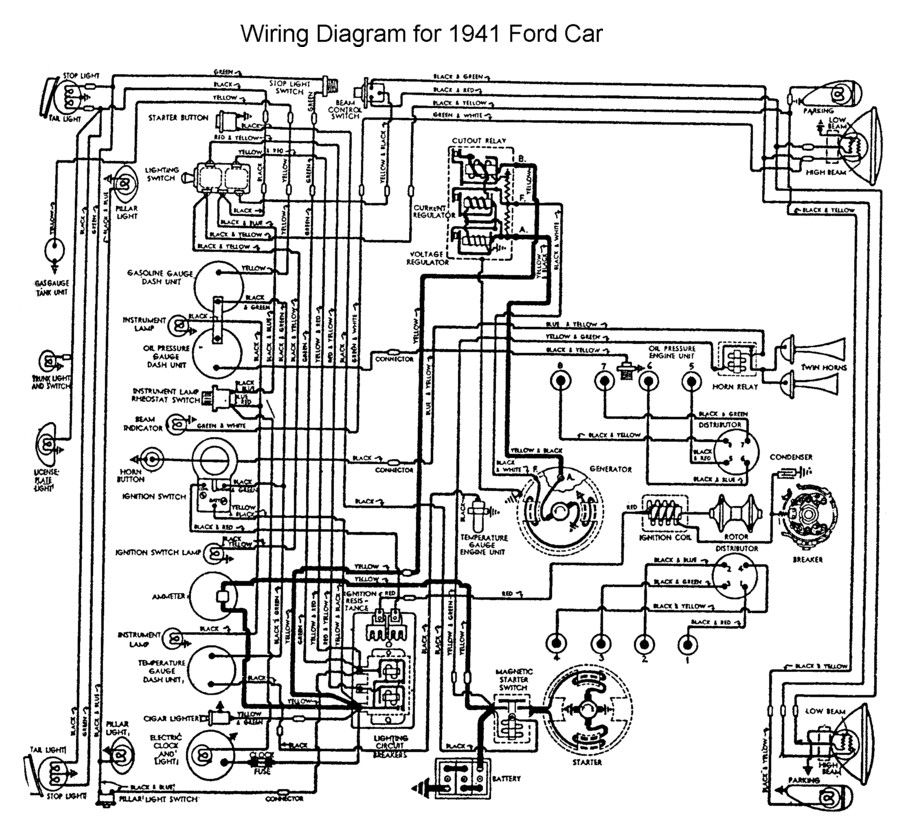 wiring for 1941 ford car