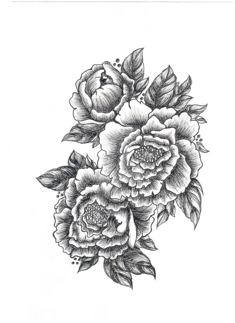 Картинки для тату черно белые цветы, картинки пожелания