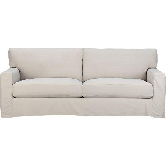 Axis Ii Slipcovered 2 Seat Queen Sleeper Sofa In Sleeper Sofas Crate And Barrel Sofa Slipcovers Stylish Sofa Bed