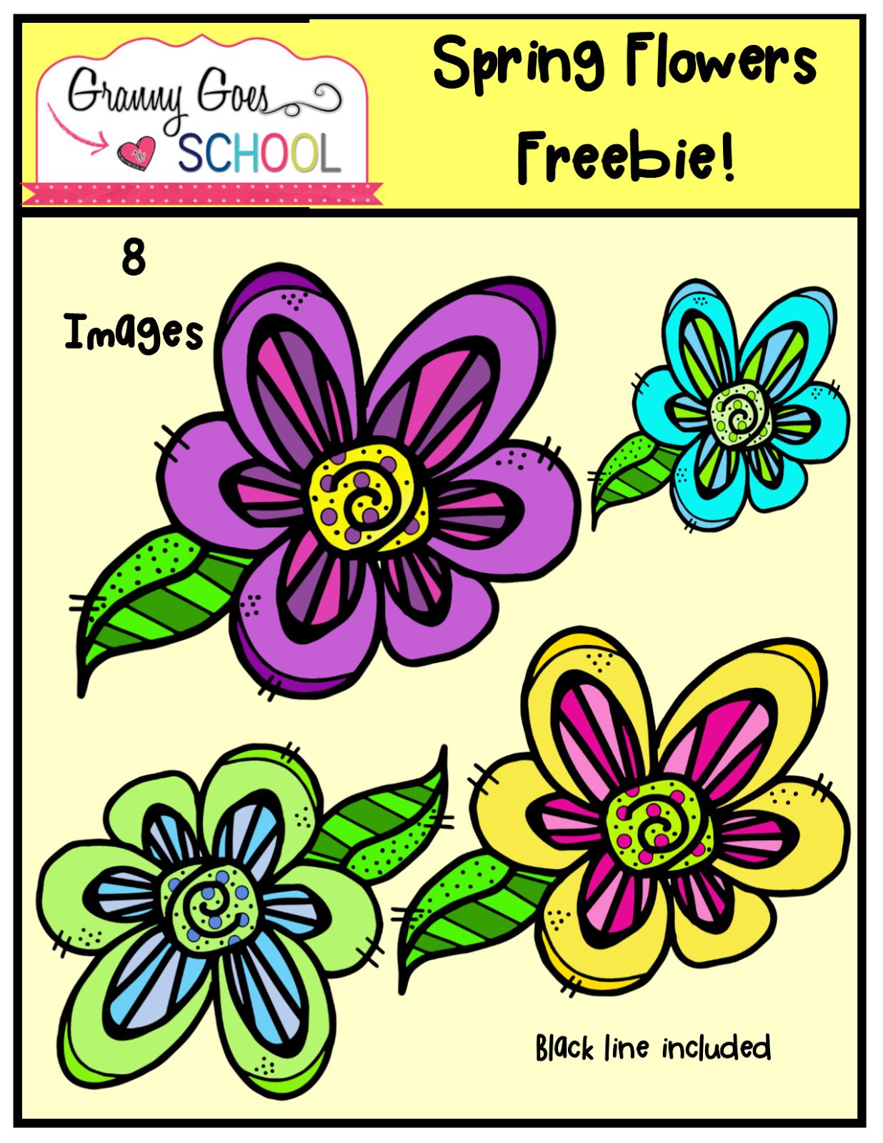 Spring Flower Freebie Teachers Pin Teachers Pinterest Flowers