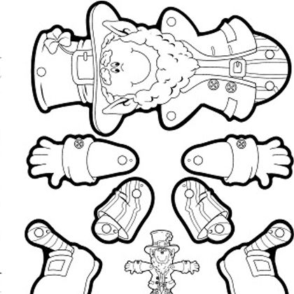 Printable Leprechaun Doll #leprechaun #kids #printable | Templates ...
